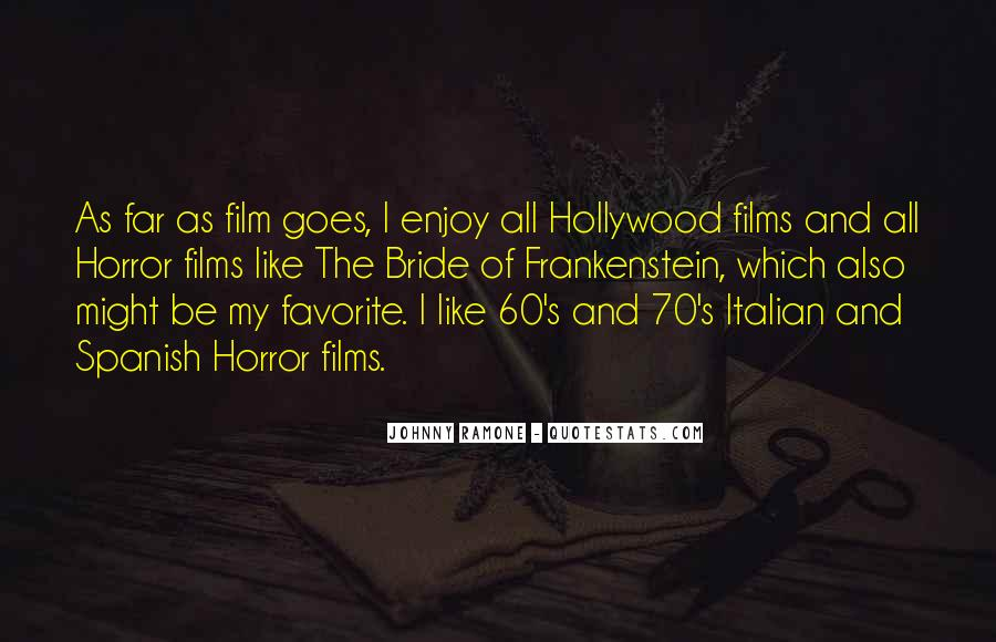 Quotes About Hollywood Films #658246