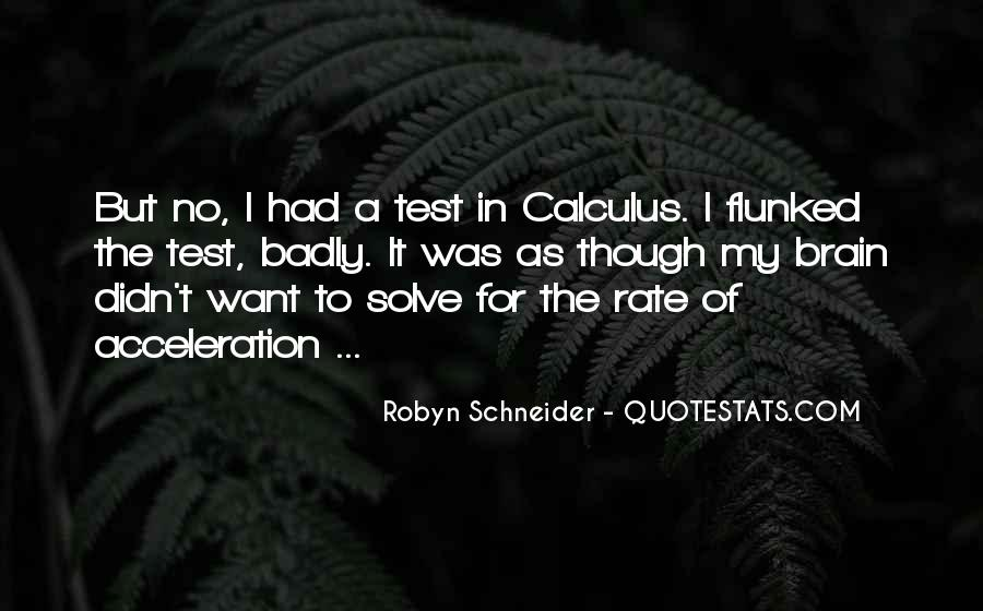 Quotes About Calculus #453687