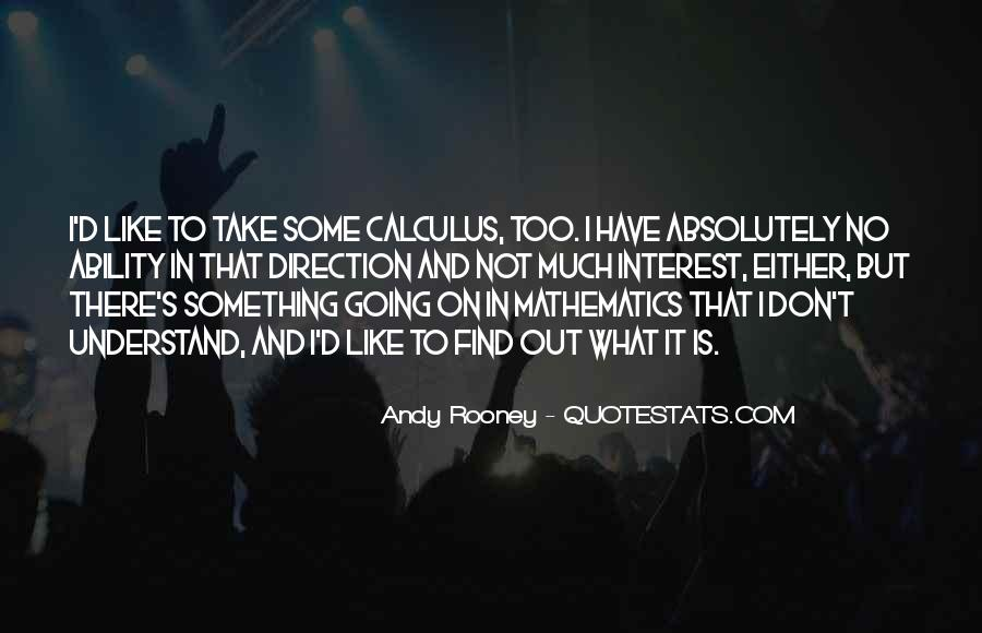 Quotes About Calculus #55895