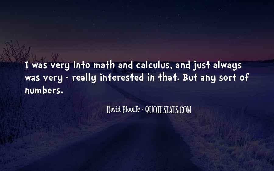 Quotes About Calculus #864729