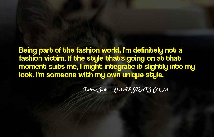 Quotes About Unique Fashion #49415