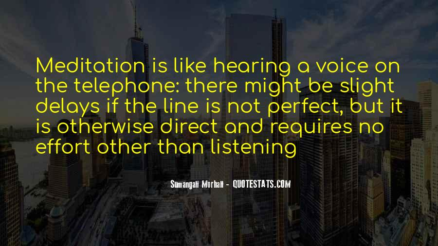 Quotes About Hearing No #1084363