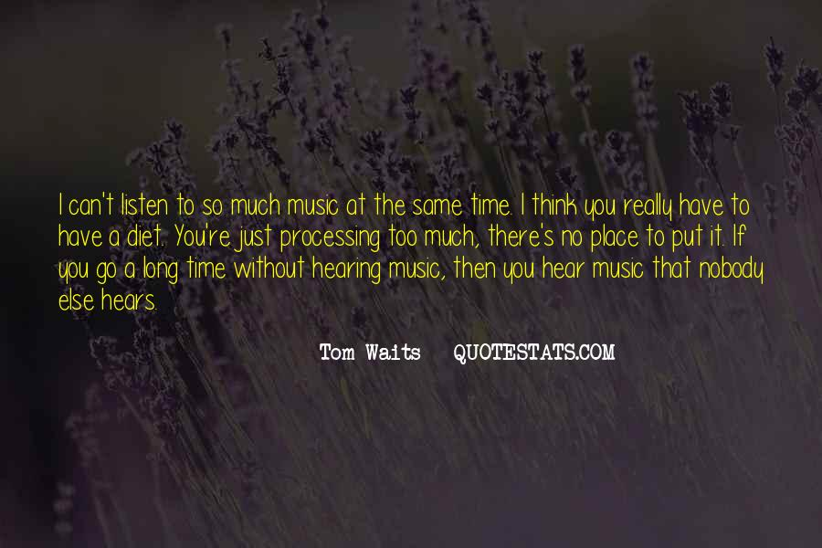 Quotes About Hearing No #124739