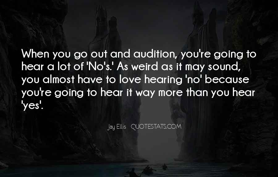 Quotes About Hearing No #494042