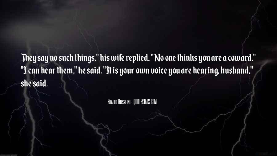 Quotes About Hearing No #874034