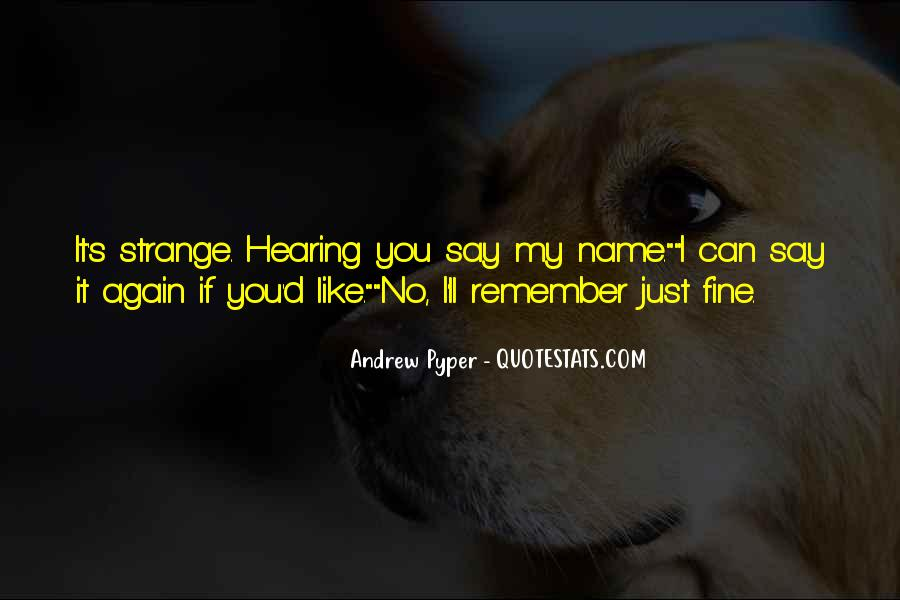 Quotes About Hearing No #919799