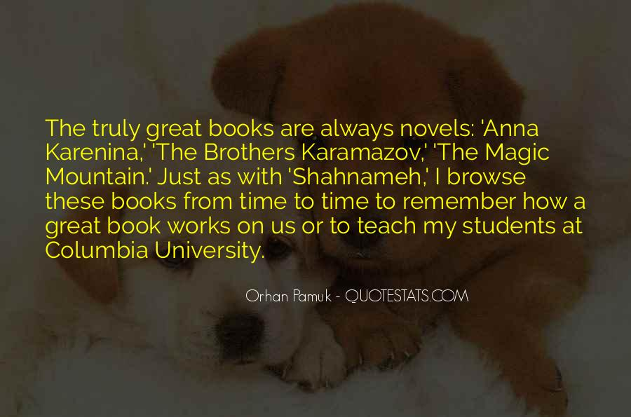 Quotes About Great Novels #1065571