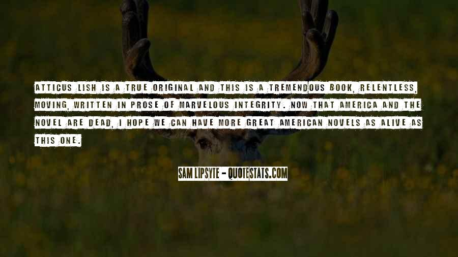 Quotes About Great Novels #1089788