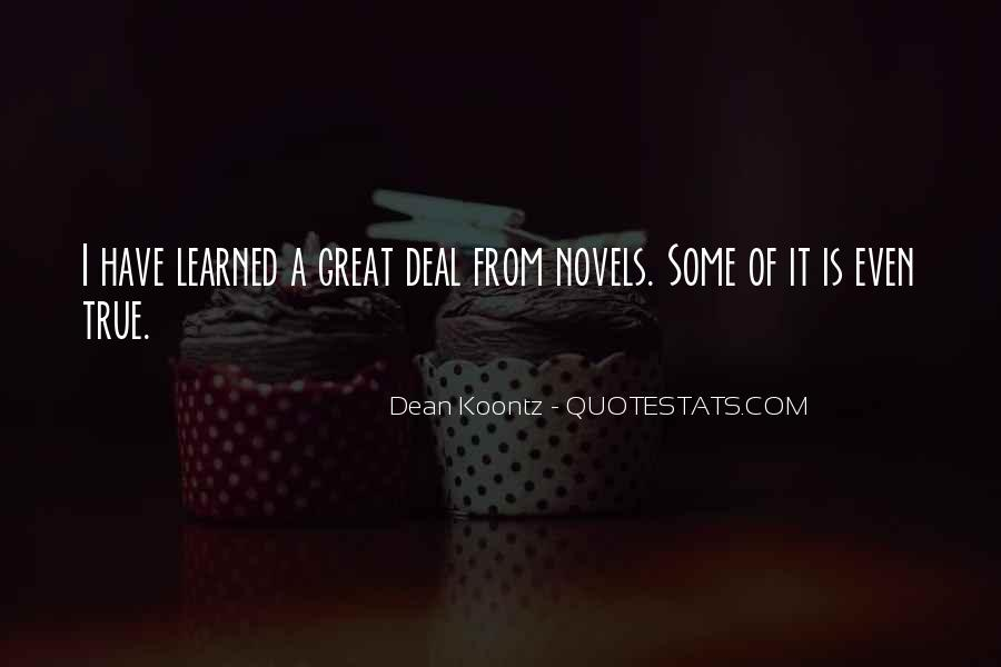 Quotes About Great Novels #1598364
