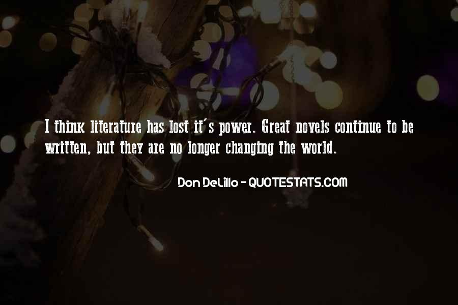 Quotes About Great Novels #1600962