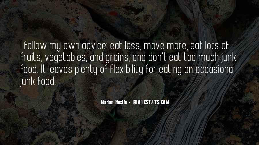 Quotes About Eating What You Want #15653