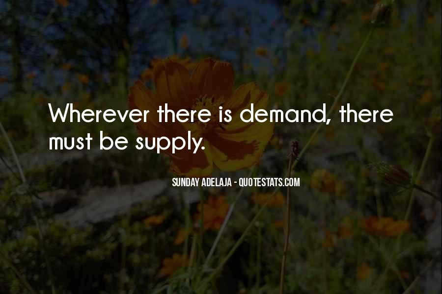 Quotes About Supply #37609
