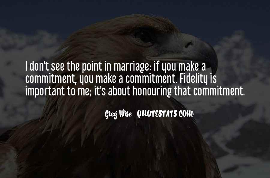 Quotes About Commitment In Marriage #1609777