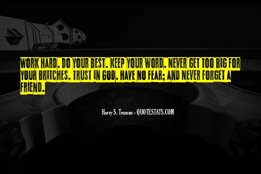 Quotes About Fear And God #159643