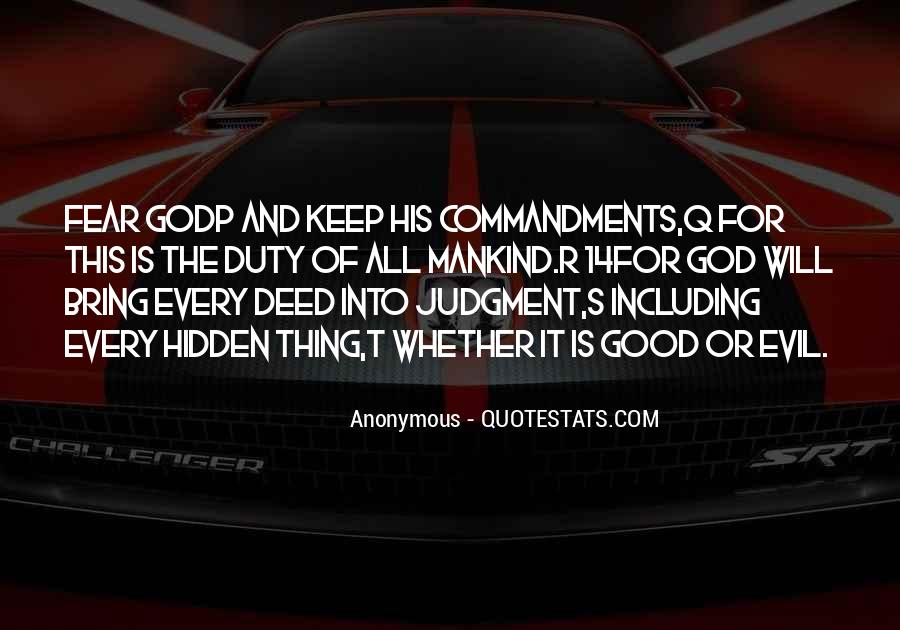 Quotes About Fear And God #204914