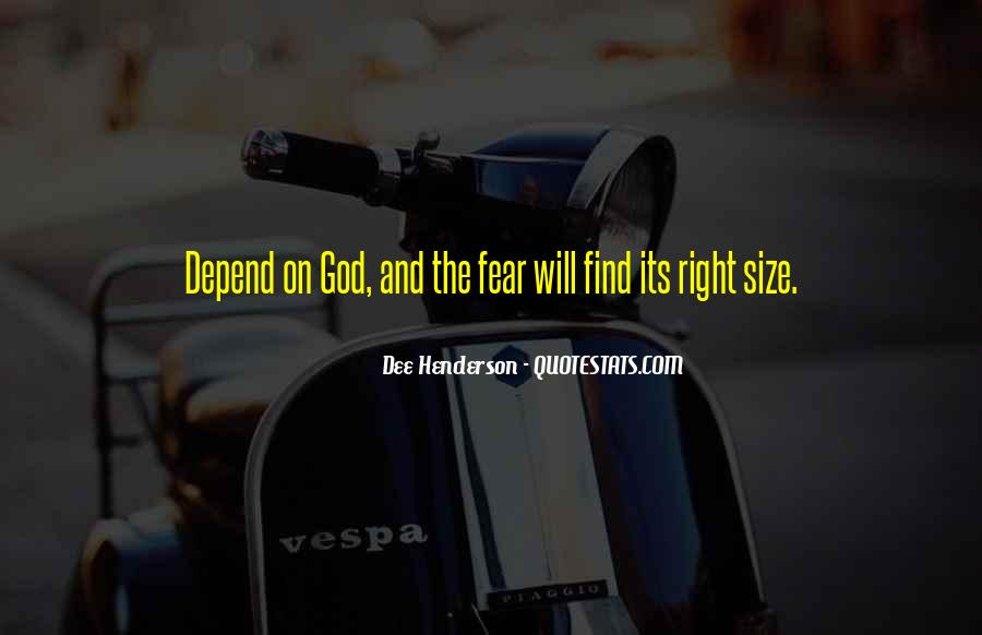 Quotes About Fear And God #262445