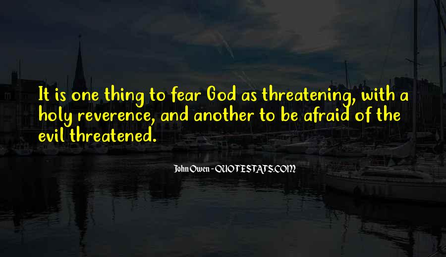 Quotes About Fear And God #315449