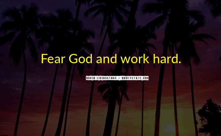 Quotes About Fear And God #38393