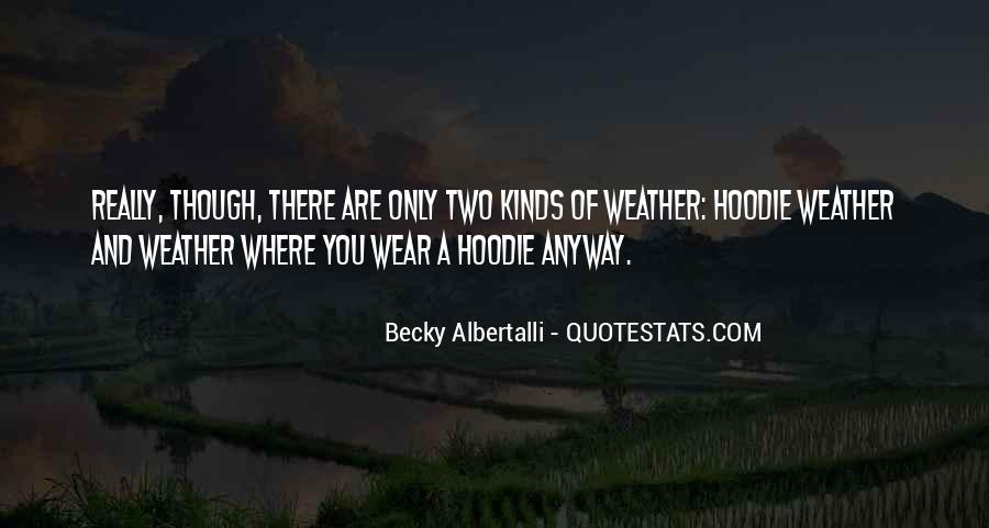Quotes About Hoodie Weather #598186