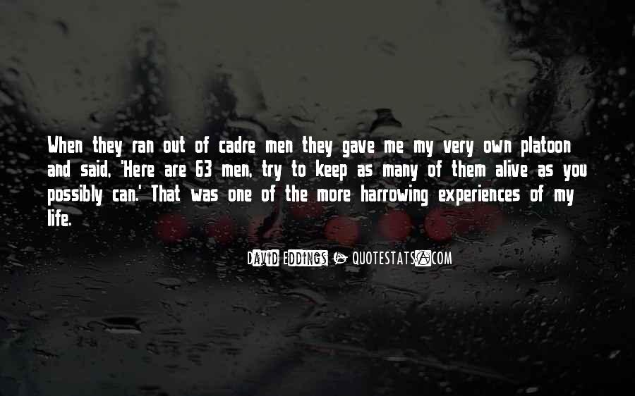 Quotes About Cadre #390797