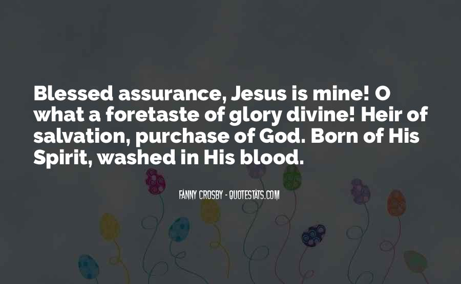Quotes About Blessed Assurance #62294
