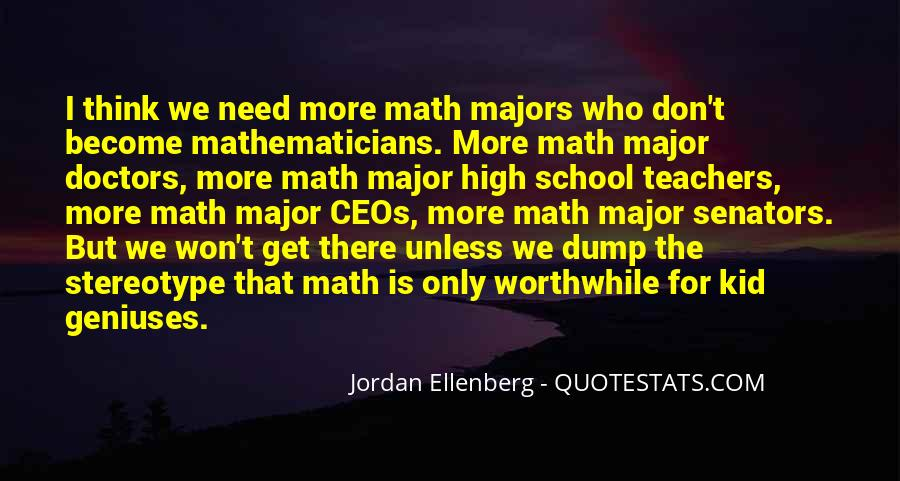 Quotes About Math Majors #140800