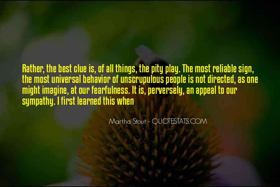 Quotes About Learned Behavior #1094232