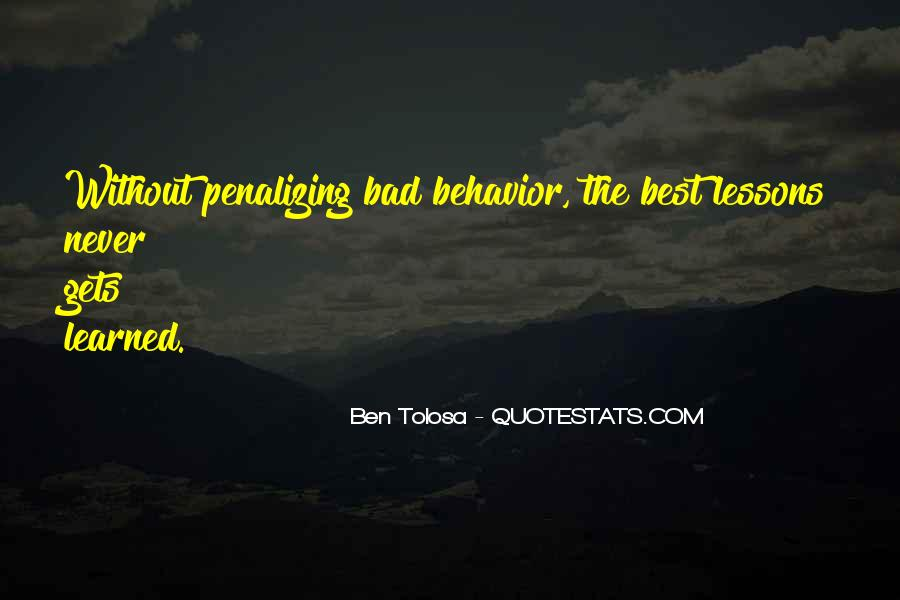 Quotes About Learned Behavior #1101618