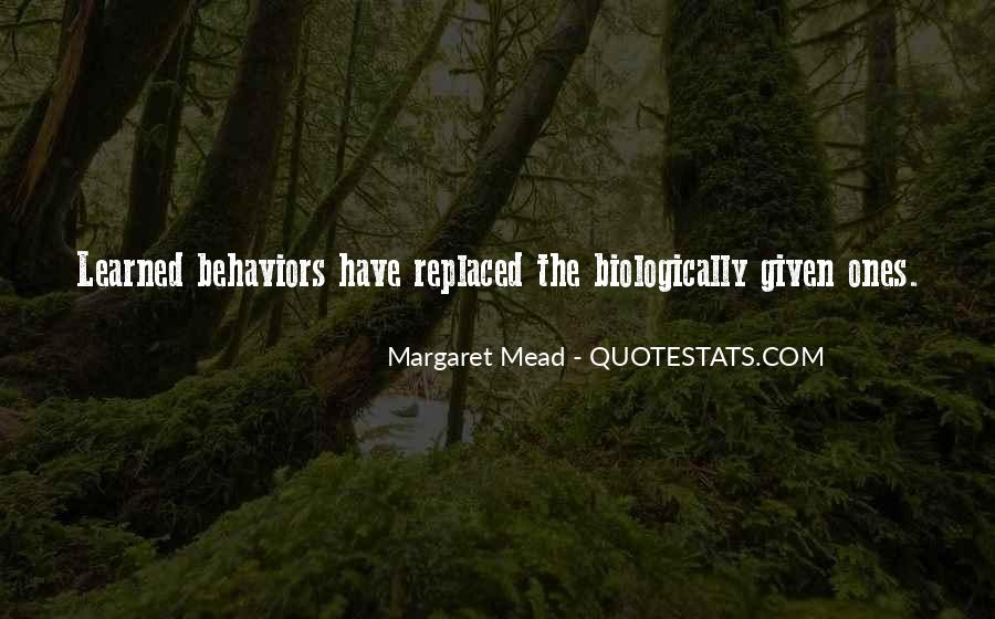 Quotes About Learned Behavior #1217351