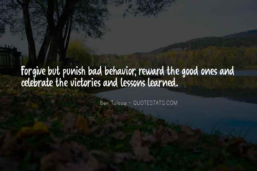 Quotes About Learned Behavior #1577059