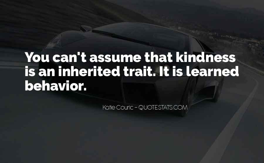 Quotes About Learned Behavior #1593427
