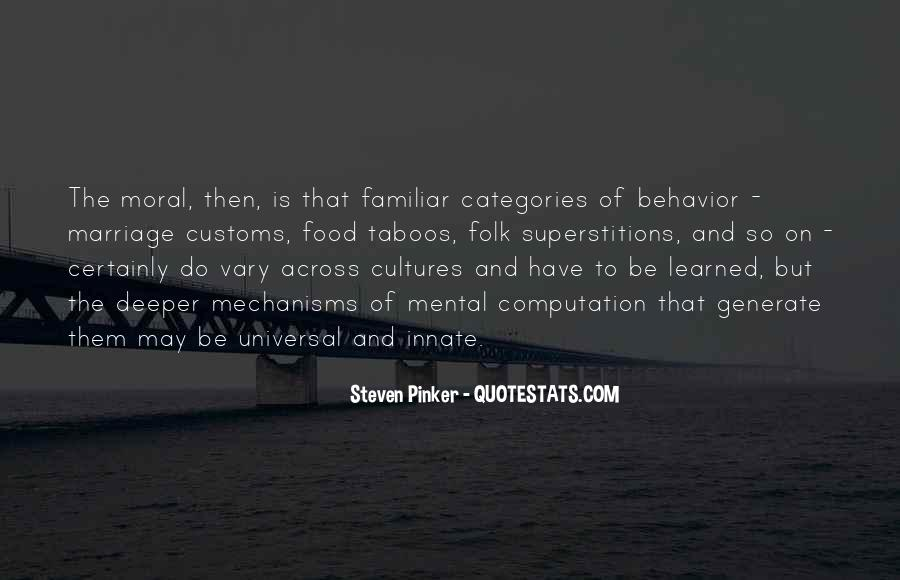 Quotes About Learned Behavior #434295