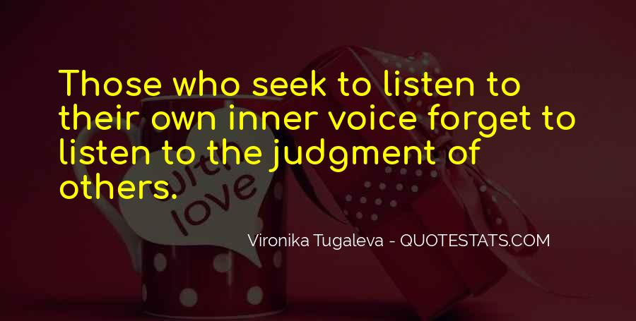 Quotes About Inner Voice #258979