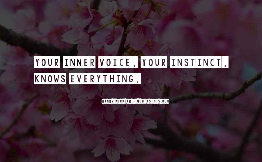 Quotes About Inner Voice #366018