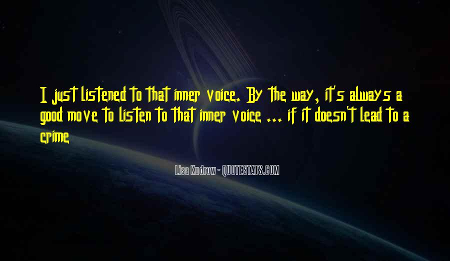Quotes About Inner Voice #593211