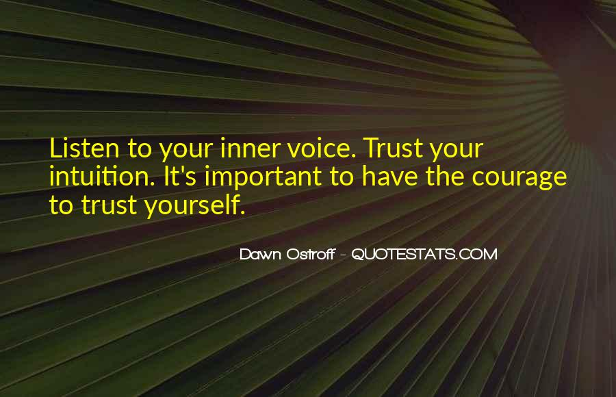 Quotes About Inner Voice #631667