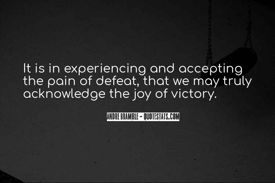 Quotes About Accepting Defeat #110794