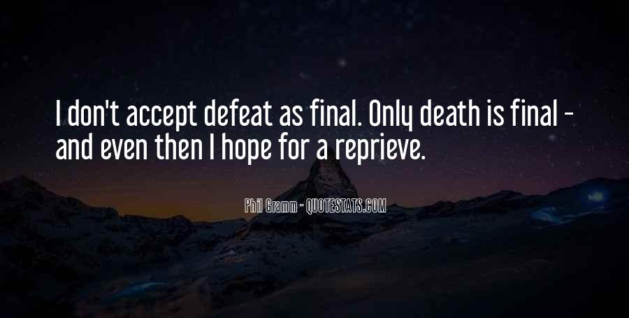 Quotes About Accepting Defeat #425984