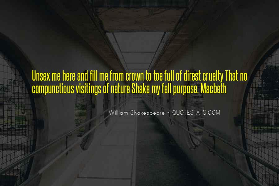 Quotes About Nature In Macbeth #183088
