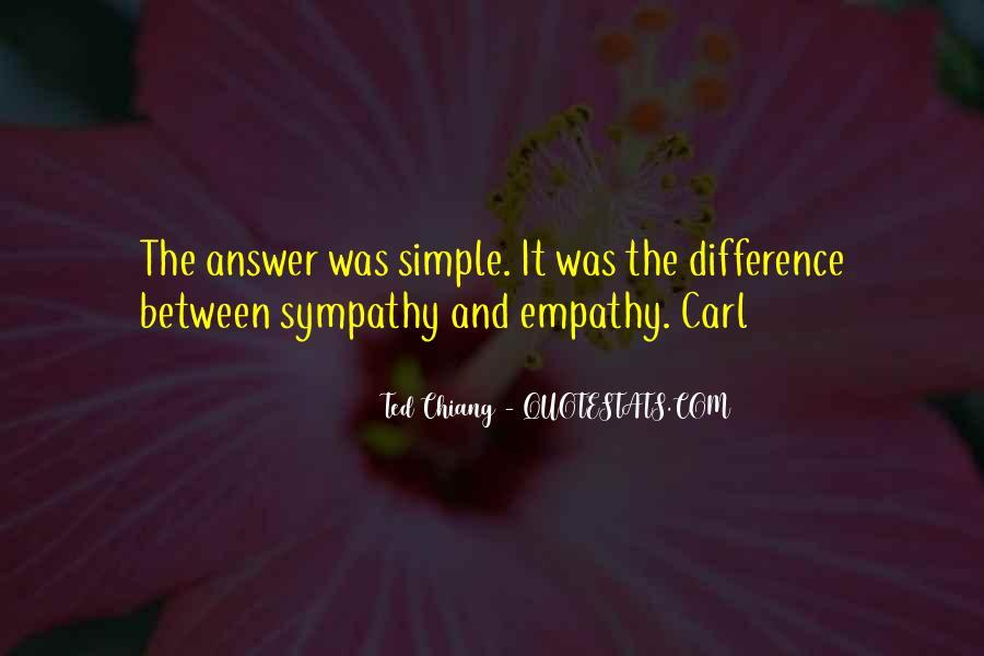 Quotes About Empathy Vs Sympathy #1358009
