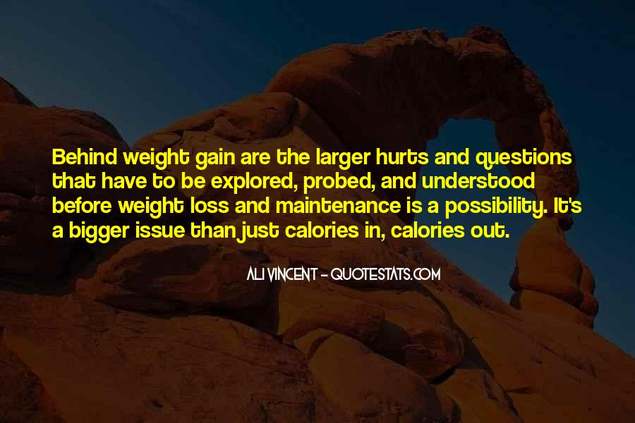 Quotes About Weight Gain #1630019