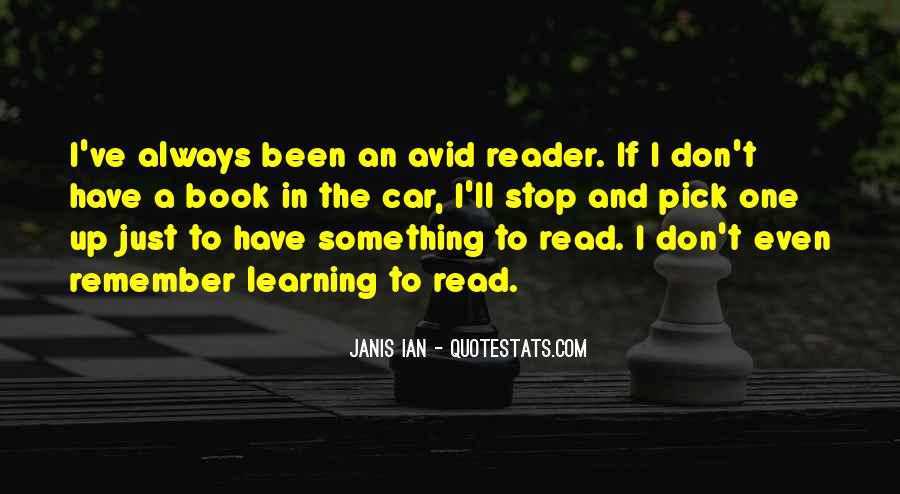 Quotes About Avid #74768