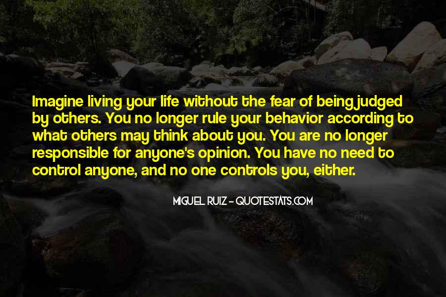 Quotes About Living Without Fear #174239