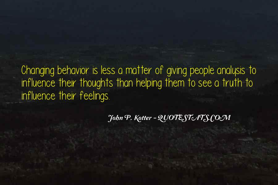 Quotes About Changing Behavior #1835126