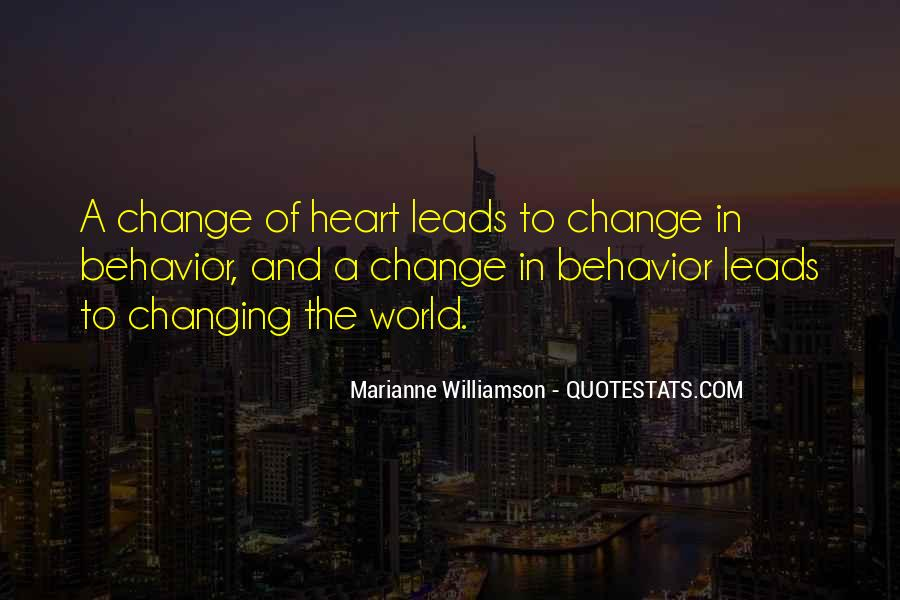 Quotes About Changing Behavior #708056
