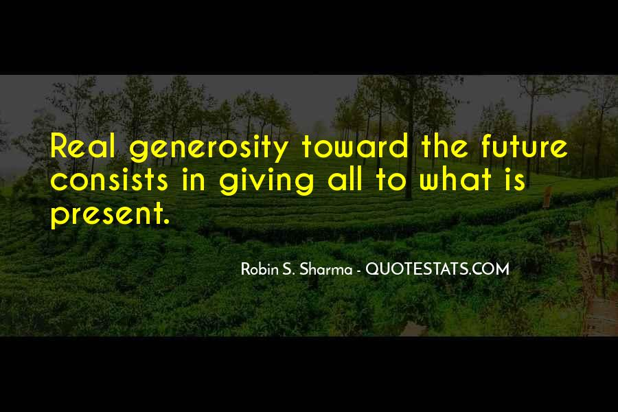 Quotes About Giving To The Future #980940