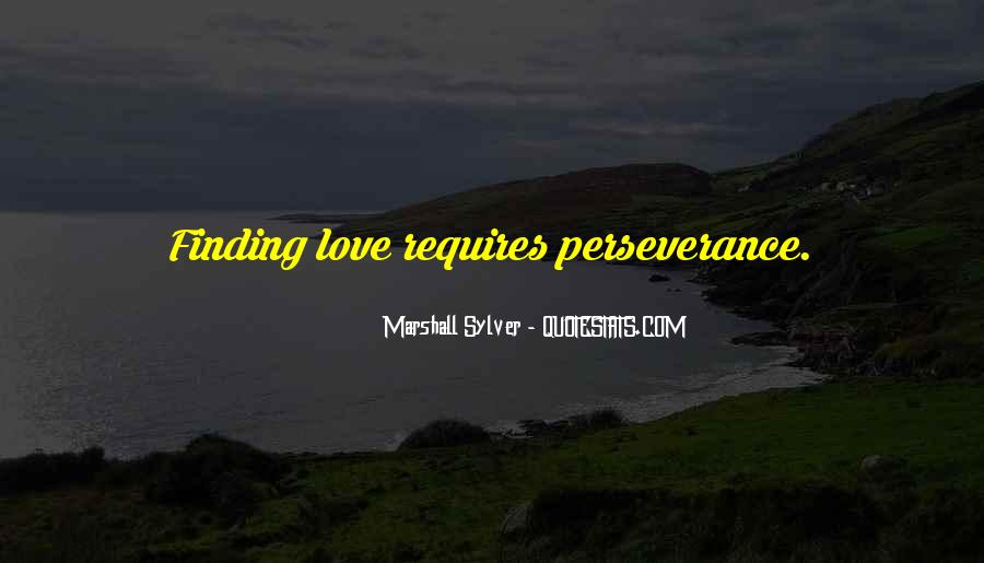 Quotes About Perseverance In Love #628572