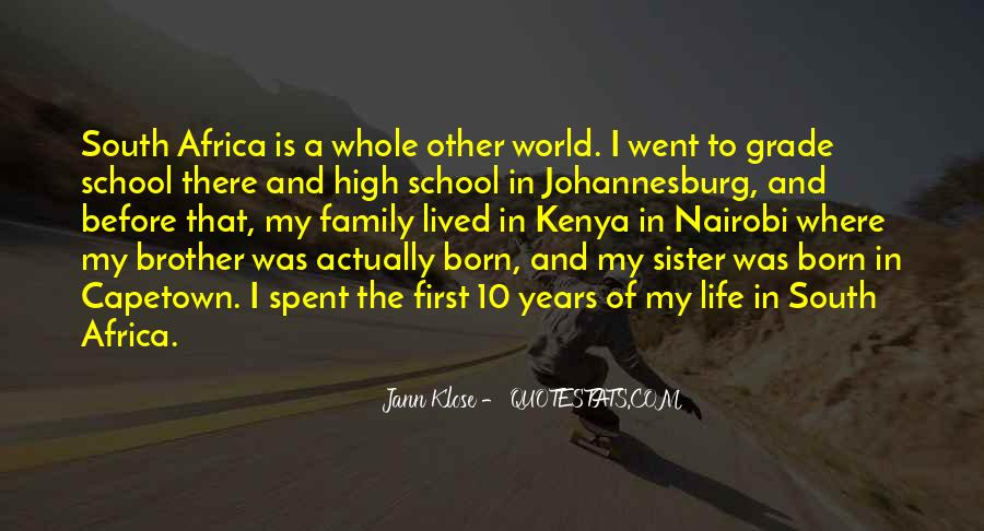 Quotes About Johannesburg South Africa #1069211