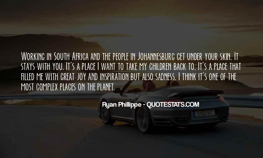 Quotes About Johannesburg South Africa #295892