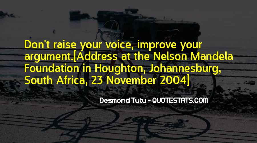 Quotes About Johannesburg South Africa #798807